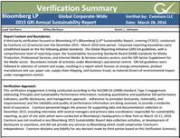 Verification of Sustainability Reporting